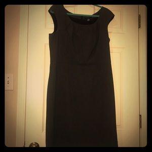 Charcoal gray pencil dress